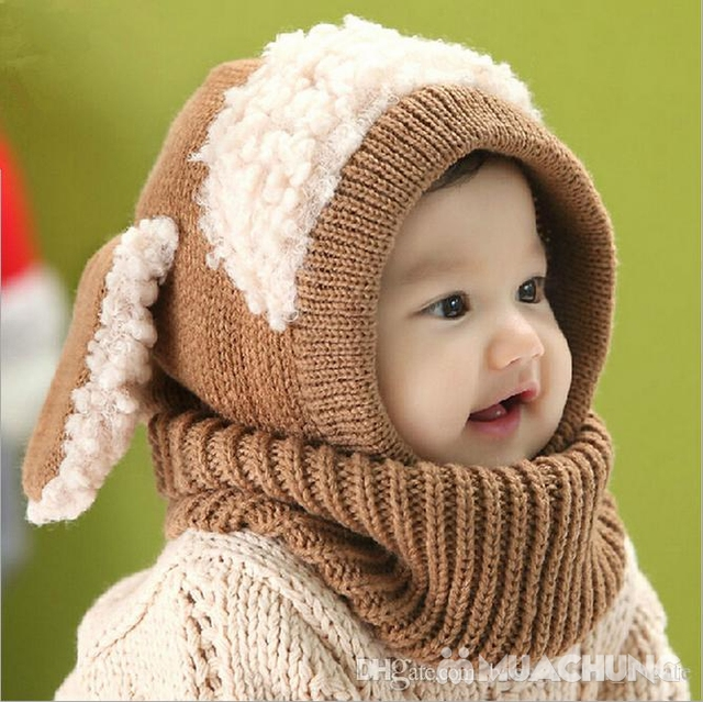 Mũ len tai cừu có cổ siêu ấm cho bé yêu - 7