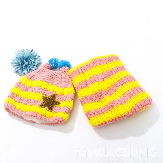 Set khăn ống+ mũ len ốc sên xinh yêu, ấm áp cho bé - 12