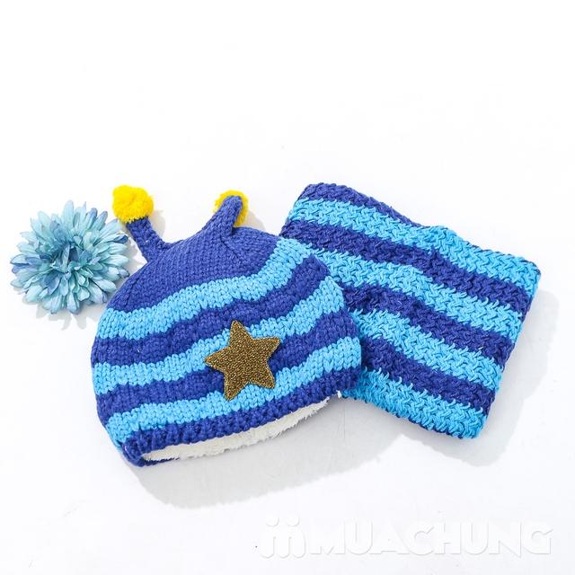 Set khăn ống+ mũ len ốc sên xinh yêu, ấm áp cho bé - 6