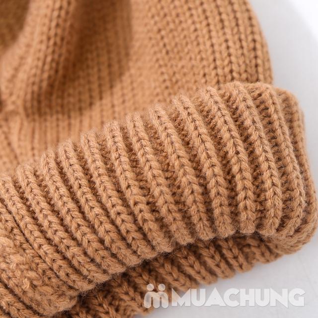 Mũ len tai cừu có cổ siêu ấm cho bé yêu - 13