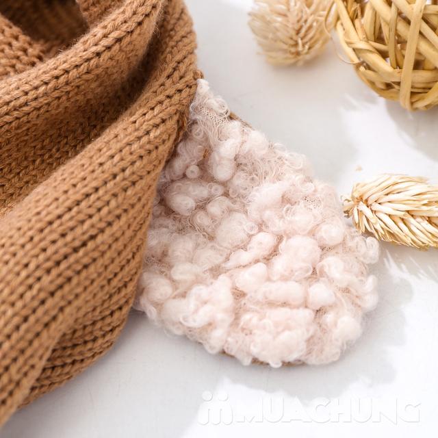 Mũ len tai cừu có cổ siêu ấm cho bé yêu - 14
