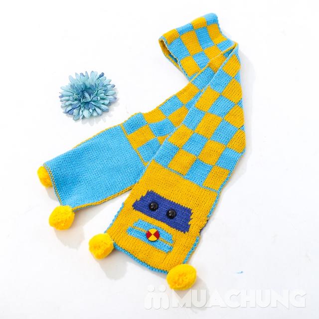 Set khăn dài + mũ len hình robot ngộ nghĩnh cho bé - 7