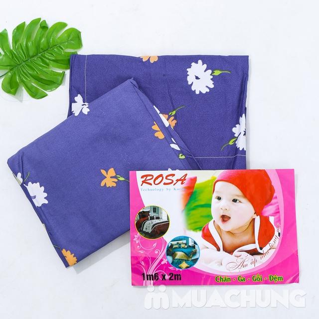 Bộ ga chun & 2 vỏ gối 1m6 x 2m cotton poly mềm mịn - 4