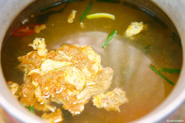 Lẩu riêu cua đồng nấu mộc & món ăn kèm đầy đặn 4N - 7
