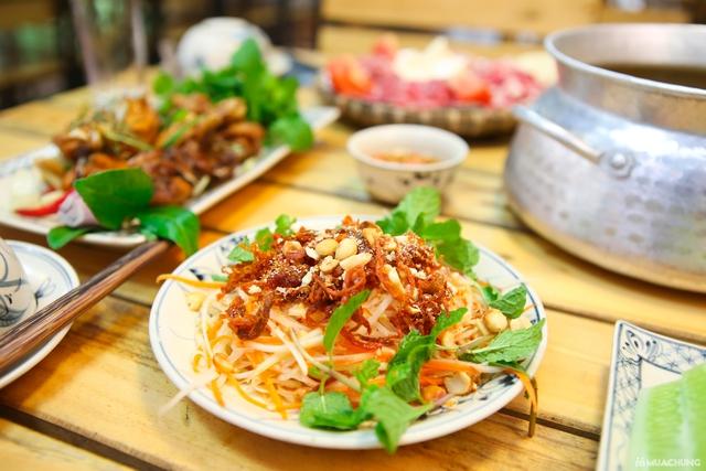 Lẩu riêu cua đồng nấu mộc & món ăn kèm đầy đặn 4N - 14