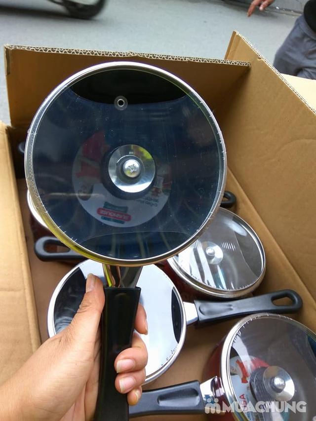 Nồi nấu quấy bột chống dính Sunhouse 14cm nắp kính - 2
