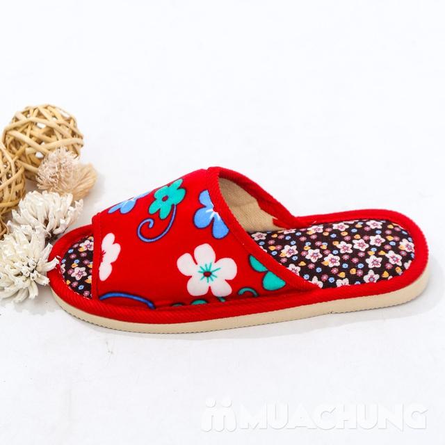 03 đôi dép nỉ họa tiết hoa đi trong nhà - hàng VN - 7