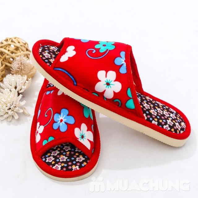 03 đôi dép nỉ họa tiết hoa đi trong nhà - hàng VN - 6