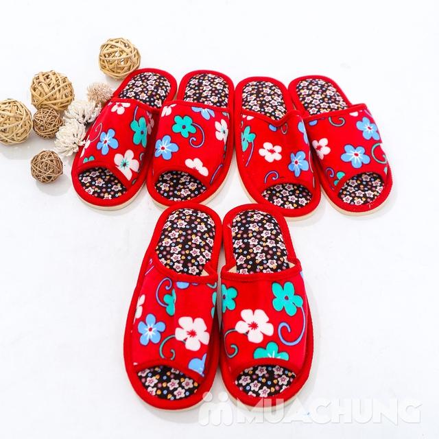 03 đôi dép nỉ họa tiết hoa đi trong nhà - hàng VN - 9