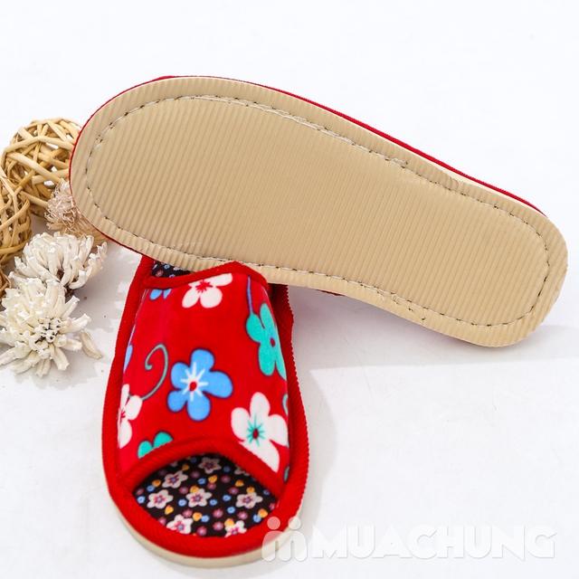 03 đôi dép nỉ họa tiết hoa đi trong nhà - hàng VN - 5