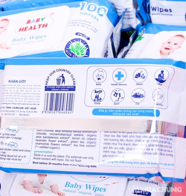 10 gói khăn ướt Baby Health chiết xuất lô hội - 2