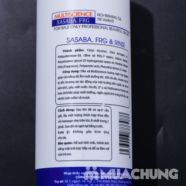 Bộ dầu gội, xả Multiscience 800ml hương nước hoa  - 10