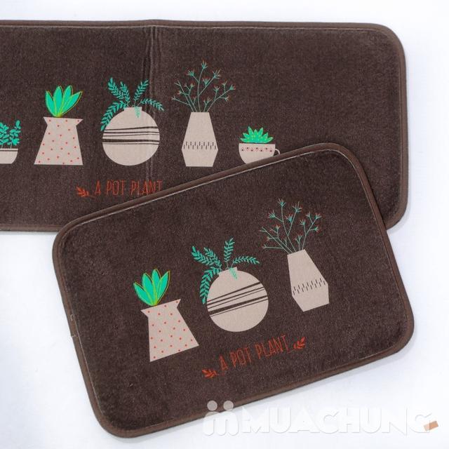 Bộ 2 thảm nhà bếp Carmi 35cmx50cm và 35cmx90cm - 13