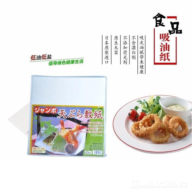 80 Tờ giấy thấm dầu mỡ cho đồ rán Nhật Bản - 1
