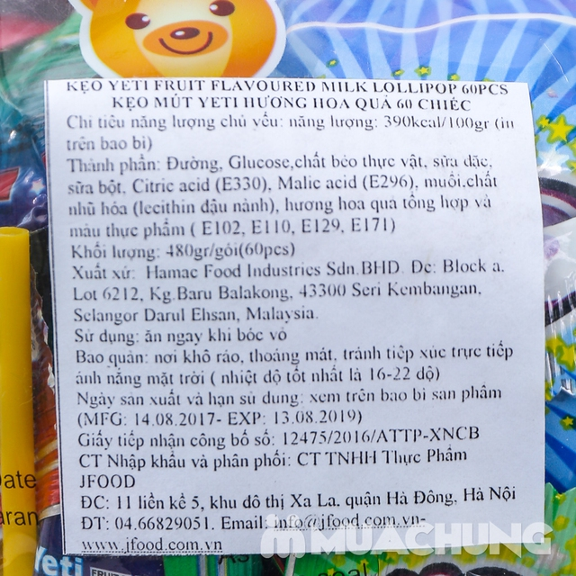 Kẹo mút bàn chân Lollipops hương hoa quả Malaysia - 9