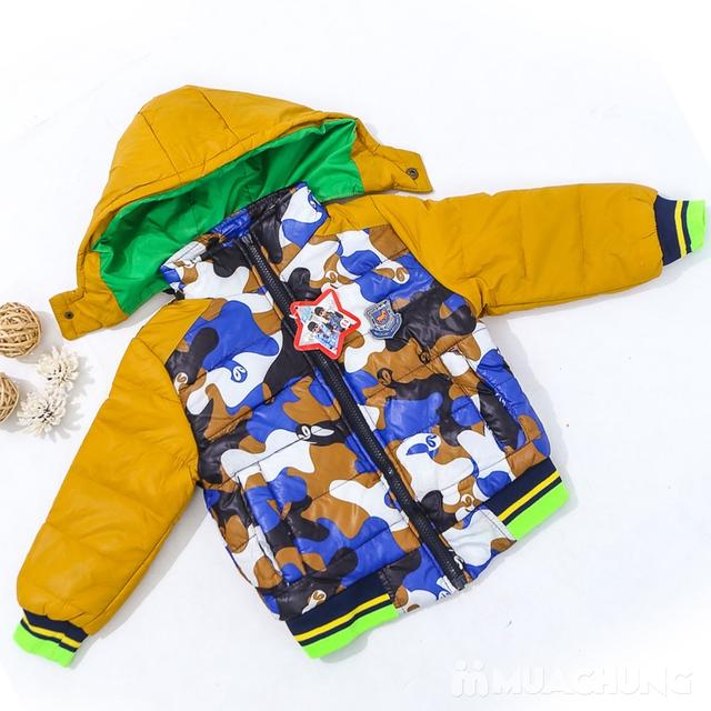 Áo phao lót lông họa tiết ấm áp cho bé trai - 9
