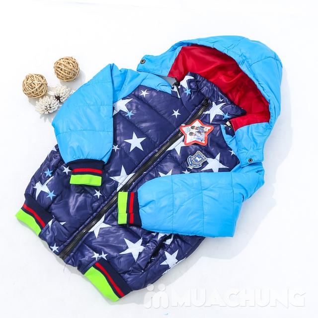 Áo phao lót lông họa tiết ấm áp cho bé trai - 17