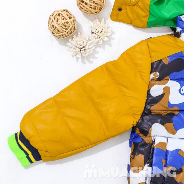 Áo phao lót lông họa tiết ấm áp cho bé trai - 10