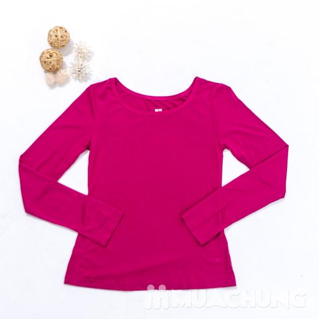 Áo cotton giữ nhiệt dài tay cho nữ - hàng VN - 9