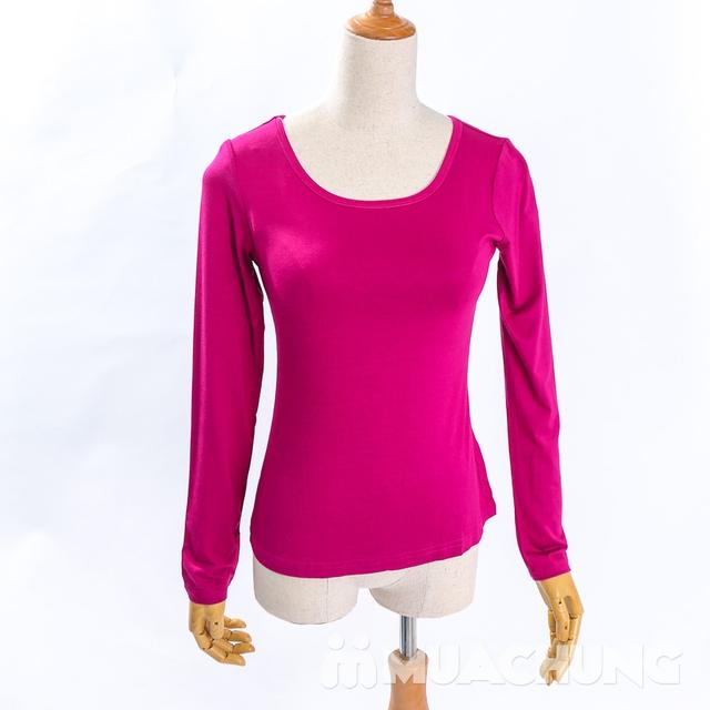 Áo cotton giữ nhiệt dài tay cho nữ - hàng VN - 10
