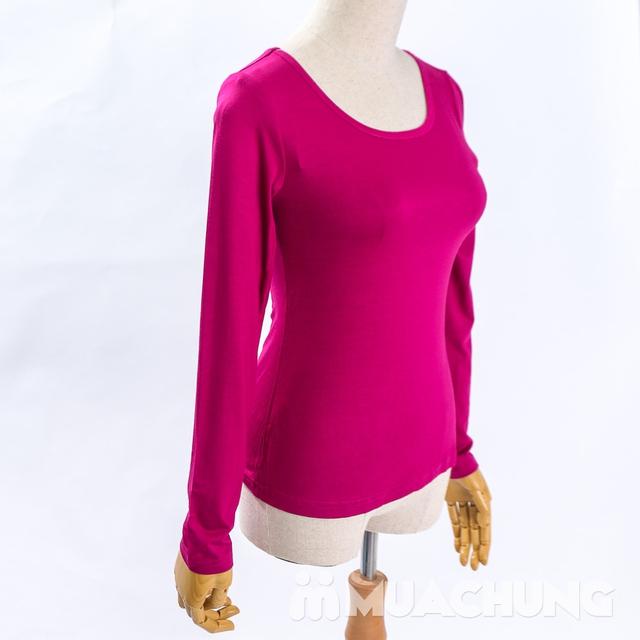 Áo cotton giữ nhiệt dài tay cho nữ - hàng VN - 12