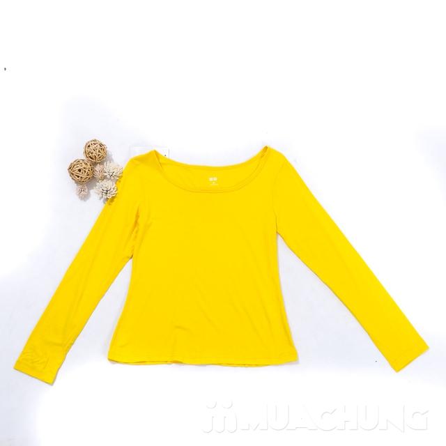 Áo cotton giữ nhiệt dài tay cho nữ - hàng VN - 17
