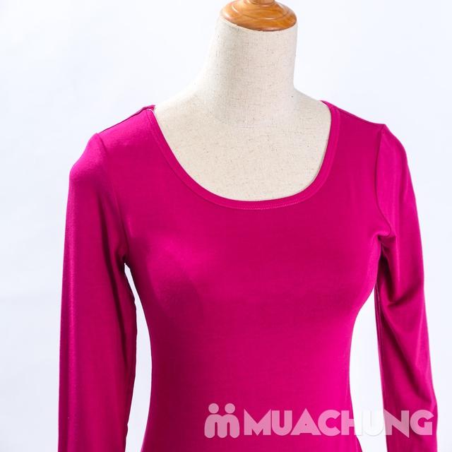 Áo cotton giữ nhiệt dài tay cho nữ - hàng VN - 11