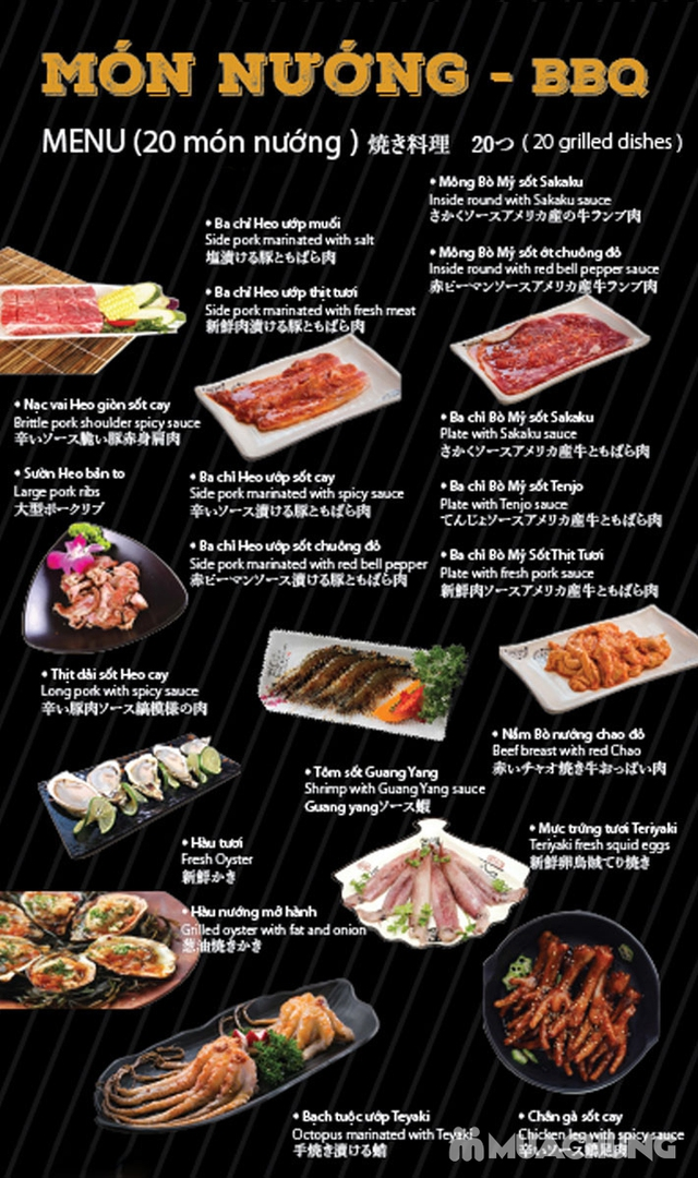 Buffet 50 món Nướng Lẩu Nhật Bản tại Sakaku BBQ  - 45