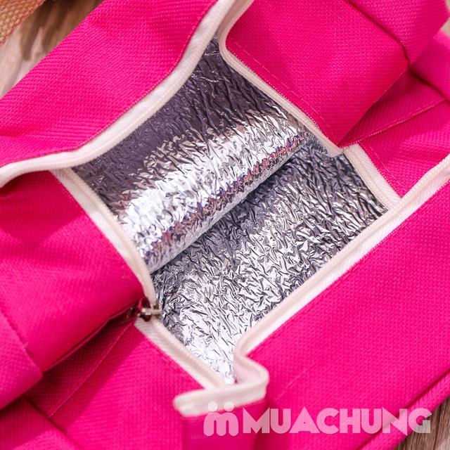 Combo 2 túi giữ nhiệt đựng đồ ăn kích thước to+ bé - 8