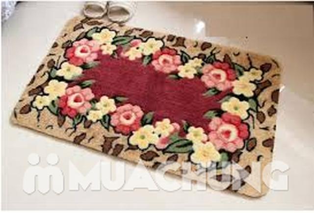 Thảm chùi chân họa tiết hoa 3D 2 lớp - 3