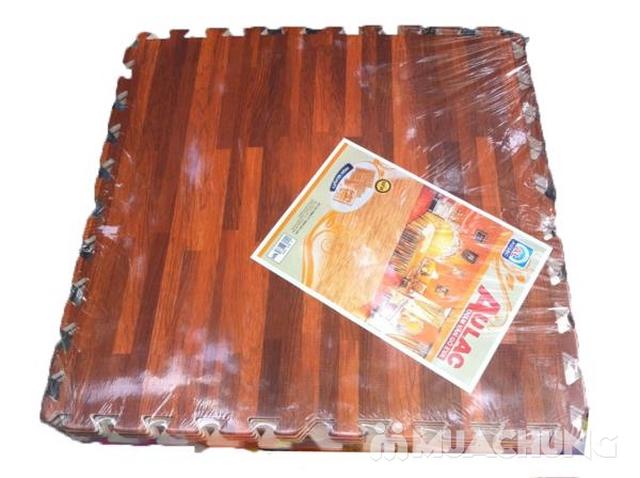 4 miếng thảm xốp vân gỗ Âu Lạc 60 x 60cm (1.44 m2) - 1