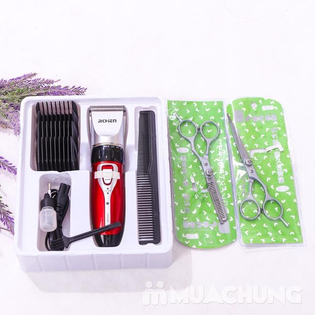 Bộ tông đơ cắt tóc Jichen tặng 2 kéo - BH 3 tháng - 11