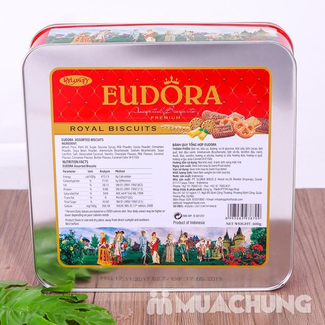 Bánh quy tổng hợp Eudora hộp thiếc 600g thơm, giòn - 10