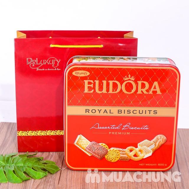 Bánh quy tổng hợp Eudora hộp thiếc 600g thơm, giòn - 11