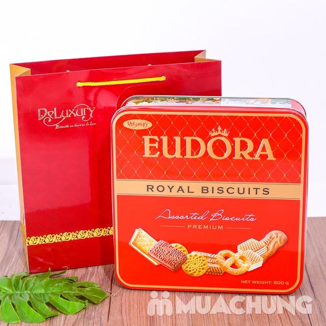 Bánh quy tổng hợp Eudora hộp thiếc 600g thơm, giòn - 6