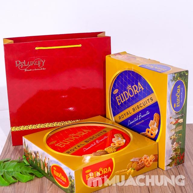 Bánh quy tổng hợp Eudora hộp thiếc 360g- Indonesia - 8