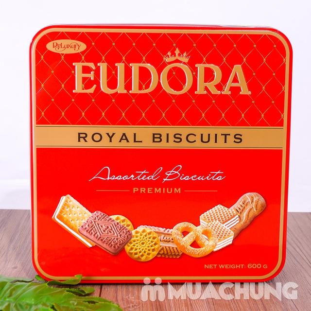 Bánh quy tổng hợp Eudora hộp thiếc 600g thơm, giòn - 8