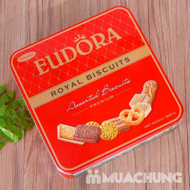Bánh quy tổng hợp Eudora hộp thiếc 600g thơm, giòn - 7