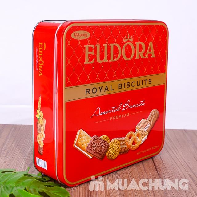 Bánh quy tổng hợp Eudora hộp thiếc 600g thơm, giòn - 9