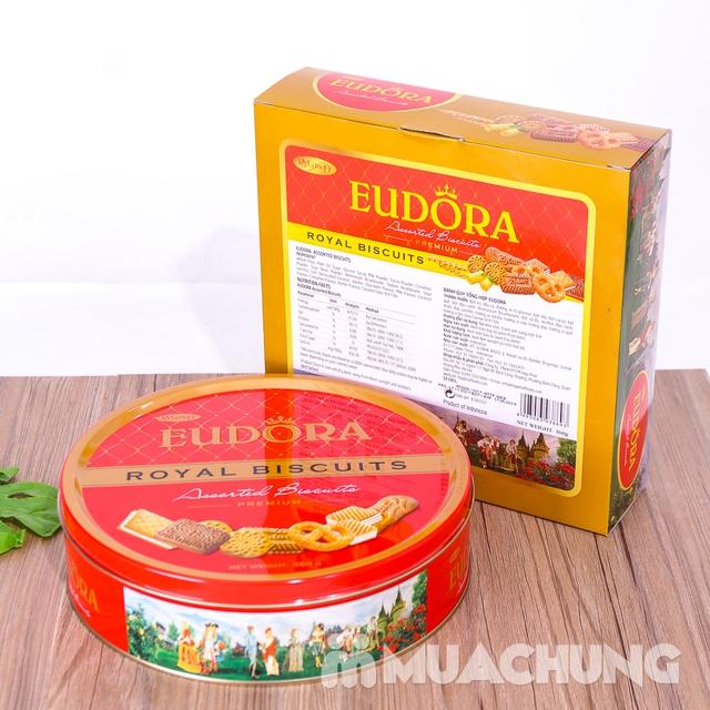Bánh quy tổng hợp Eudora hộp thiếc 360g- Indonesia - 12