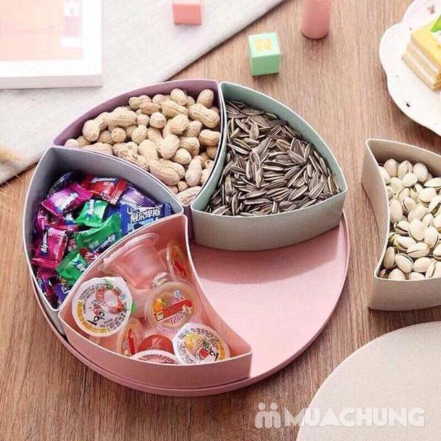 Khay đựng mứt tết lúa mạch hình hộp quà loại tròn - 4