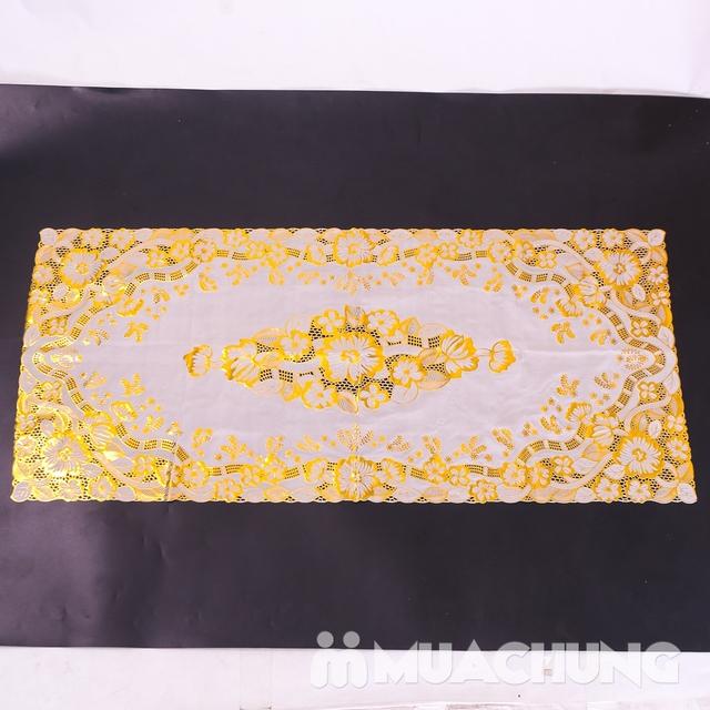 02 khăn trải bàn dập hoa nổi sang trọng loại vừa - 12