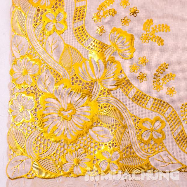 02 khăn trải bàn dập hoa nổi sang trọng loại vừa - 16