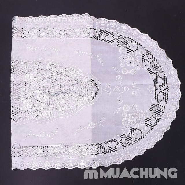 02 khăn trải bàn dập hoa nổi sang trọng loại vừa - 13
