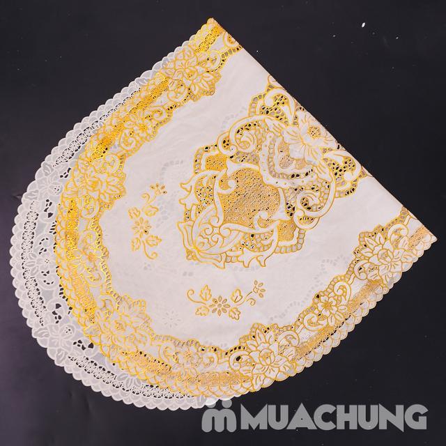 02 khăn trải bàn dập hoa nổi sang trọng (60x120cm) - 9