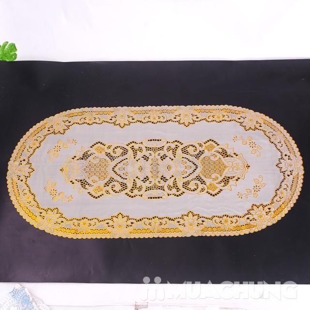 02 khăn trải bàn dập hoa nổi sang trọng (60x120cm) - 6