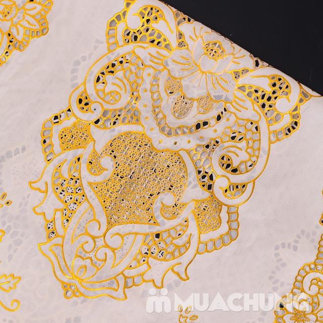 02 khăn trải bàn dập hoa nổi sang trọng (60x120cm) - 11
