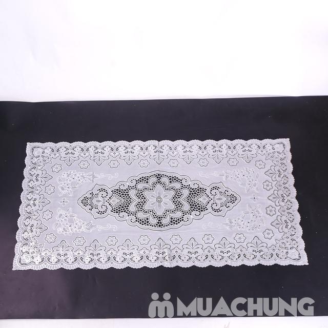 02 khăn trải bàn dập hoa nổi sang trọng (60x120cm) - 8