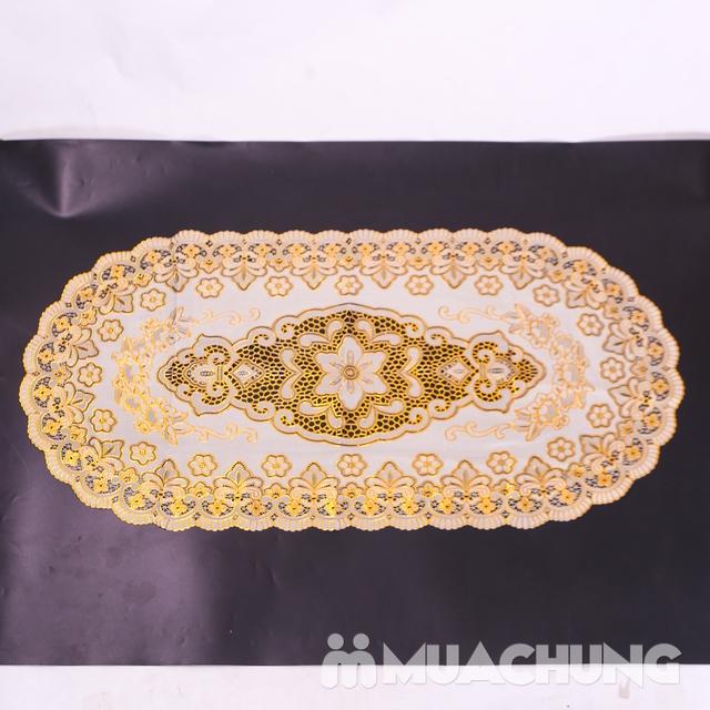 02 khăn trải bàn dập hoa nổi sang trọng (60x120cm) - 7