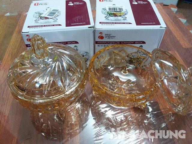 2 hũ thủy tinh đựng mứt vàng (554V) - 1